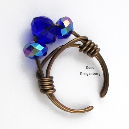 Adjustable Wire Wrap Bead Ring Tutorial Jewelry Making