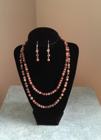 Jasper necklace and earrings