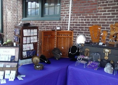 Wooden Busts and Vintage Trunk