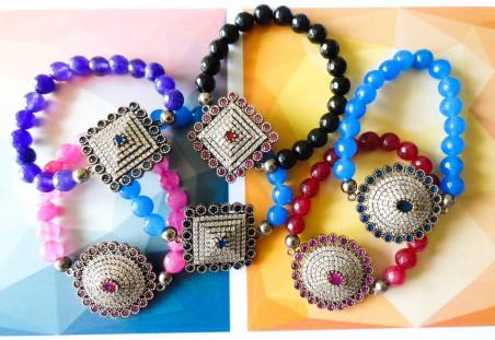 Colorful beaded bracelets