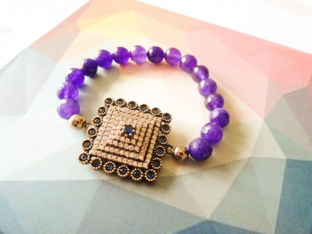 purple zirconia bracelet