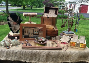 Earthy Jewelry Booth Display