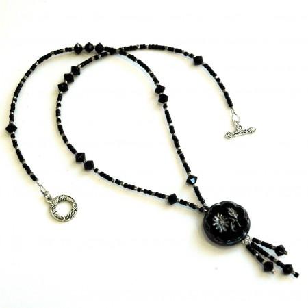 TMarcoe: Black & Silver Postmodern Victorian Necklace 3