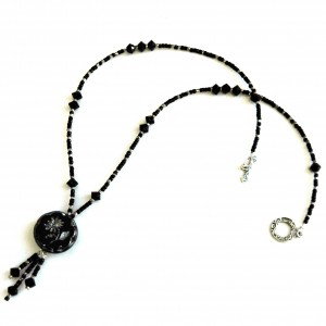 Black & Silver Postmodern Victorian Necklace