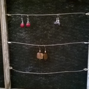 Earring display.