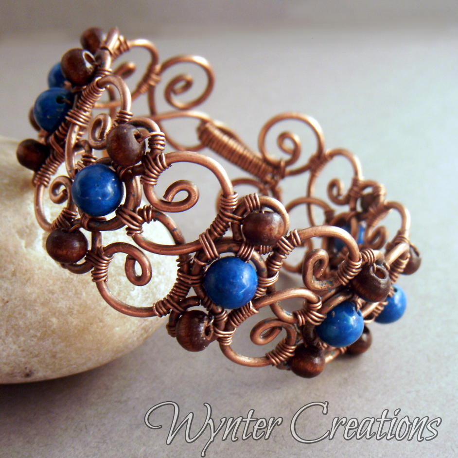 Wire Bracelets With Charms: Cecily Wire Wrapped Bracelet