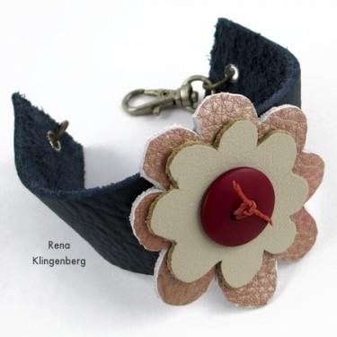 Leather Flower Bracelet (Tutorial)