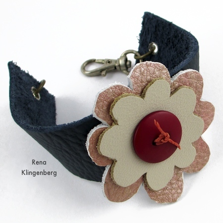 Leather Flower Bracelet (Tutorial)