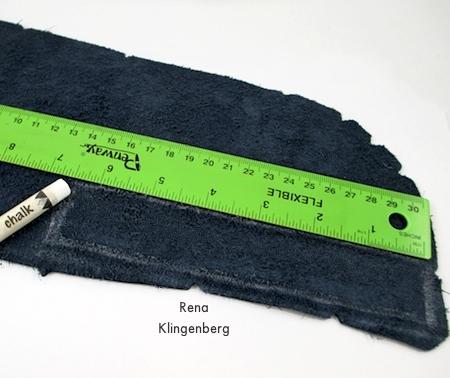Mark Bracelet Band on Back of Leather - Leather Flower Bracelet - Tutorial by Rena Klingenberg