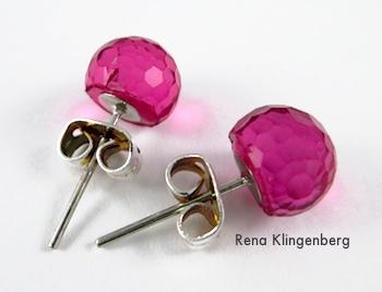 Stud earrings for Spiral Wire Earring Jackets - Tutorial by Rena Klingenberg