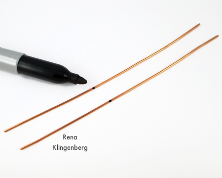 Marking wires for Spiral Wire Earring Jackets - Tutorial by Rena Klingenberg