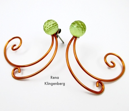 Spiral Wire Earring Jackets - Tutorial by Rena Klingenberg