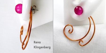 How to Wear Earring Jackets - Spiral Wire Earring Jackets - Tutorial by Rena Klingenberg