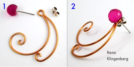 How to Wear Earring Jackets - Spiral Wire Earring Jackets - Tutorial by Rena Klingenberg