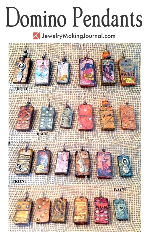 Domino Pendants by Susan Anderson  - featured on Jewelry Making Journal