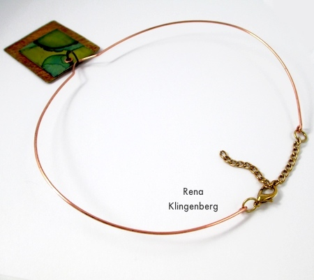 Adjustable Neckwire for Pendants - Tutorial by Rena Klingenberg