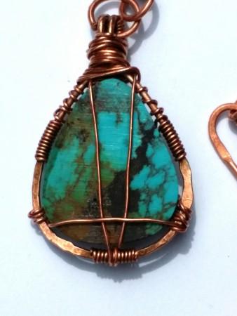 Back of pendant pre oxidation.
