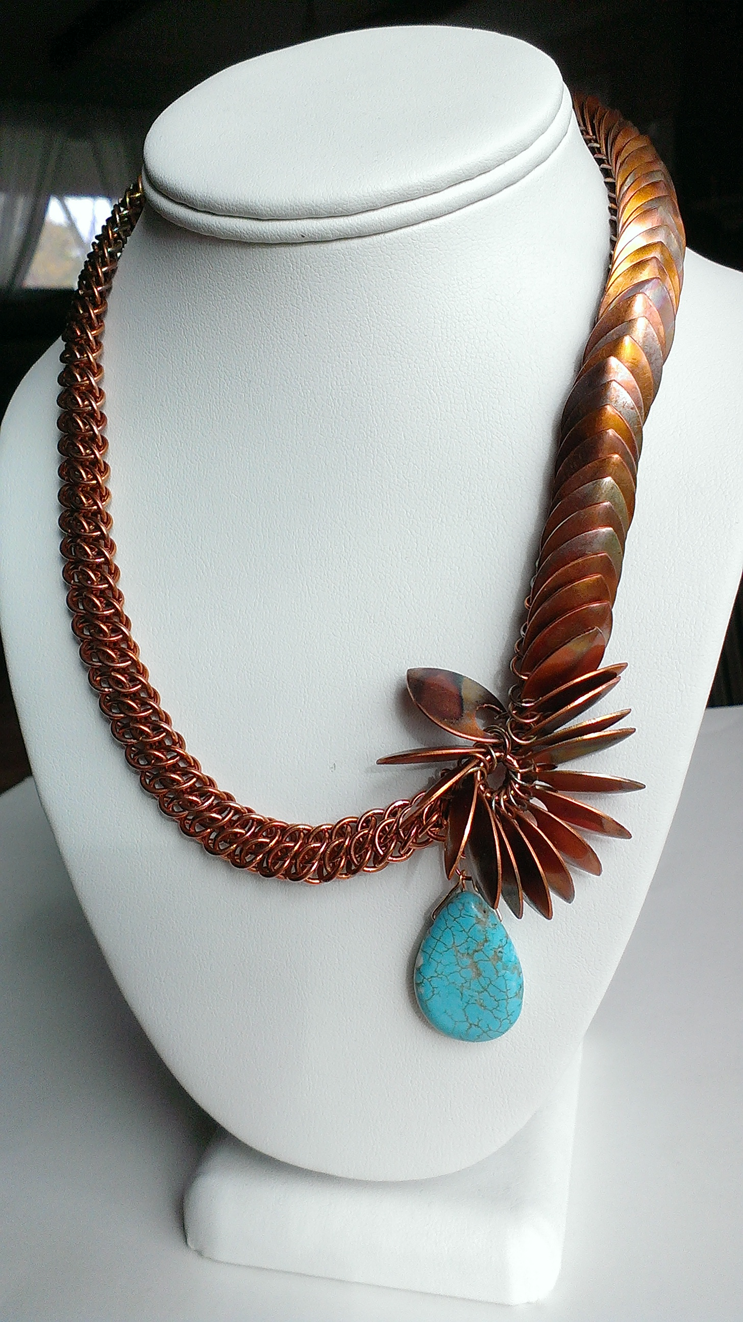 Flamed Copper Necklace
