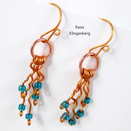 Desert Rain Wire Earrings - Tutorial by Rena Klingenberg