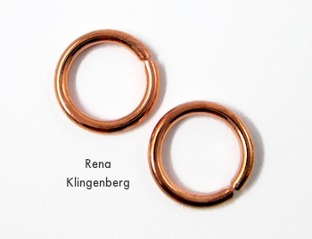 Large jump rings for Desert Rain Wire Earrings - Tutorial by Rena Klingenberg