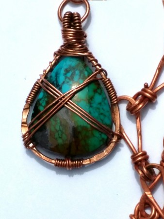 Front of pendant pre oxidation.