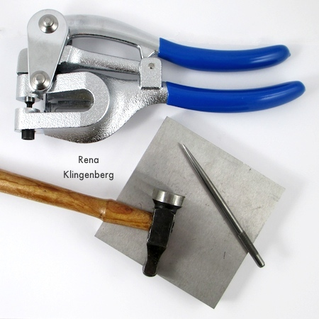 Tools for How to Punch Holes in Metal - Tutorial by Rena Klingenberg