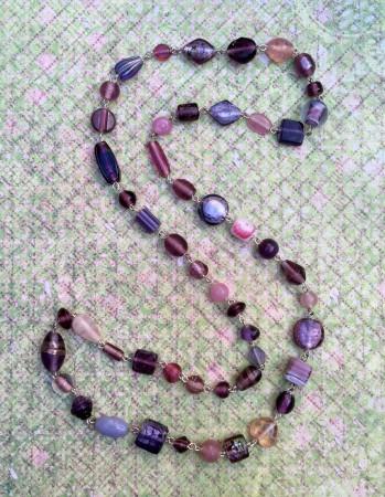 Purple glass bead chain
