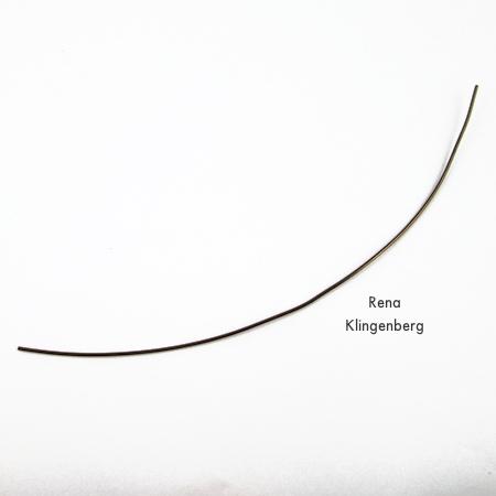 Wire for arrowhead - Metalwork Arrowhead Pendant - Tutorial by Rena Klingenberg