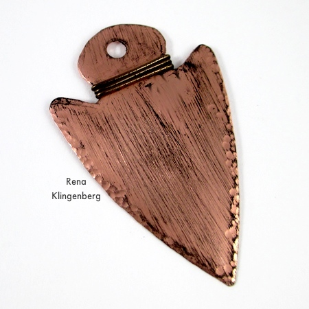 Metal Arrowhead Pendant - How to Give Metals an Oxidized Look - Tutorial by Rena Klingenberg