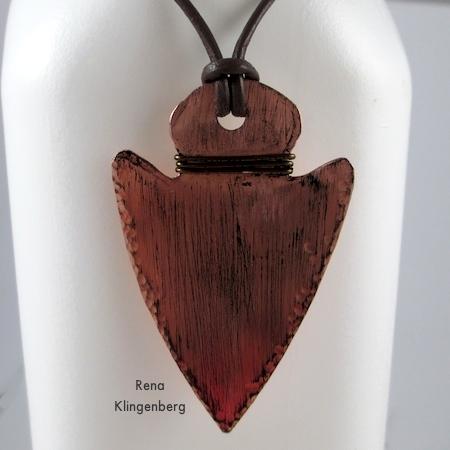 Metalwork Arrowhead Pendant - Tutorial by Rena Klingenberg
