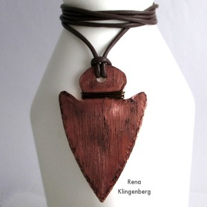 Metalwork Arrowhead Pendant - Tutorial by Rena Klingenberg