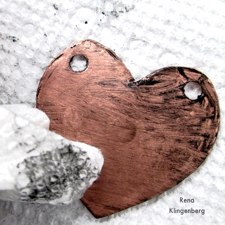Removing excess paste - How to Give Metals an Oxidized Look - Tutorial by Rena Klingenberg