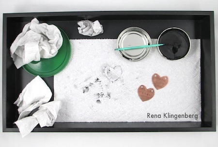 Workspace for How to Give Metal an Oxidized Look - Tutorial by Rena Klingenberg