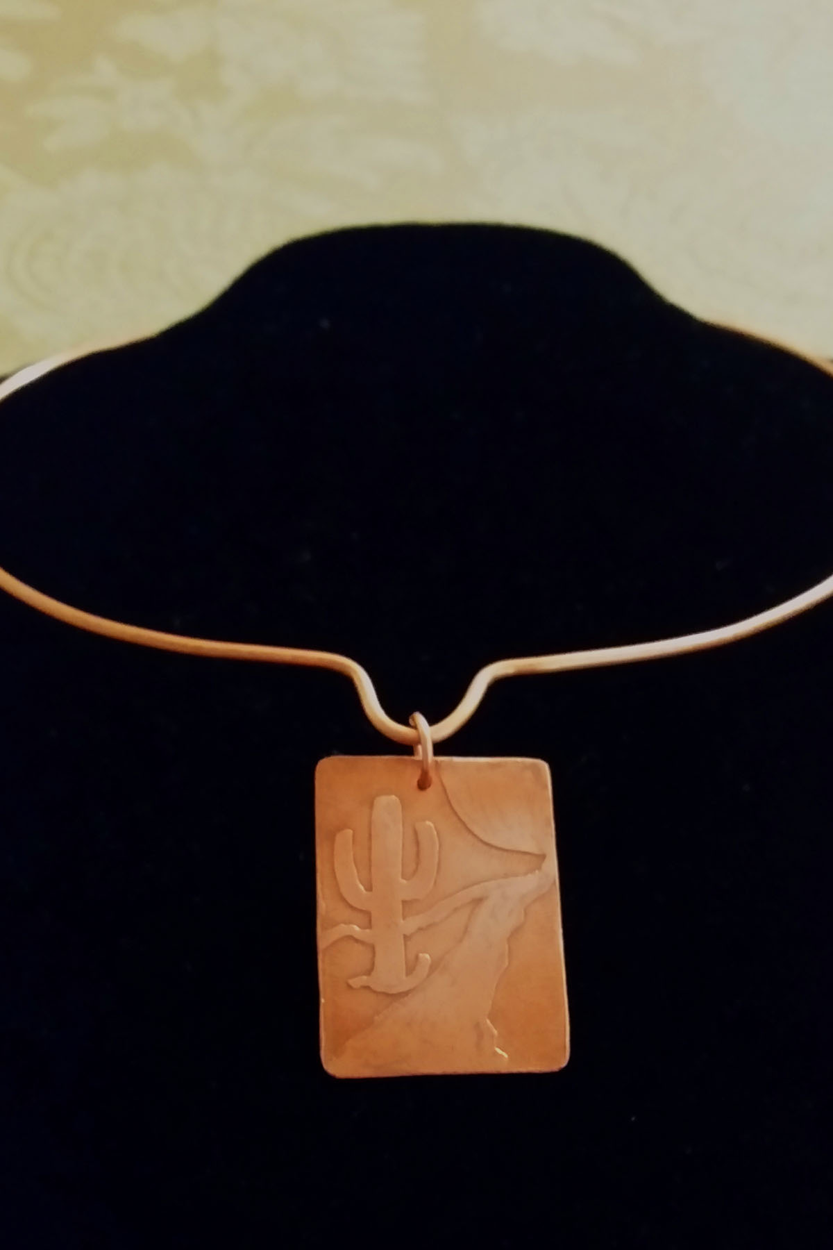 Copper Etching Pendant