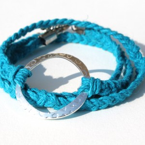Braided Hemp Wrap Bracelet