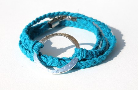 JWhite: Braided Hemp Wrap Bracelet 1