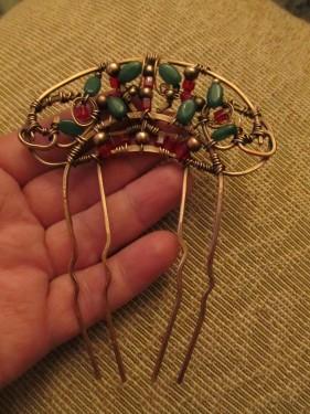Art Nouveau Wire Hair Comb