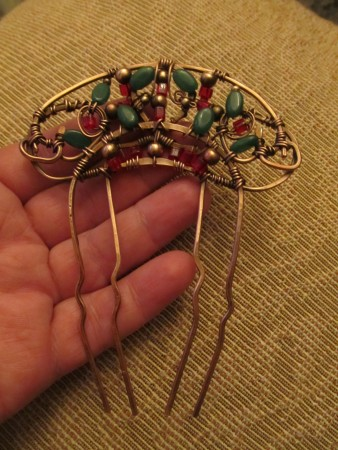 Margarita: Art Nouveau Wire Hair Comb 1