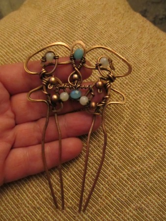 Margarita: Art Nouveau Wire Hair Comb 2
