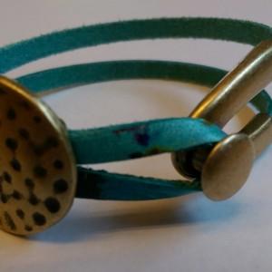 CRehkop: Watercolor & Antique Brass Bracelet 1