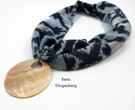Colar elástico sem costura ou faixa de cabelo dos anos 1920 - Tutorial de Rena Klingenberg