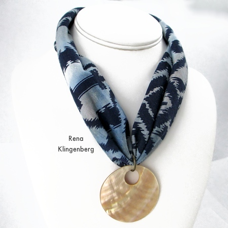 No-Sew Stretchy Necklace or 1920's Headband - Tutorial by Rena Klingenberg