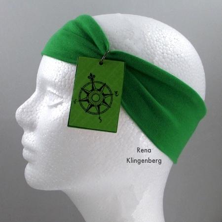 Tiara de No-Sew Stretchy Necklace ou 1920's Headband - Tutorial de Rena Klingenberg