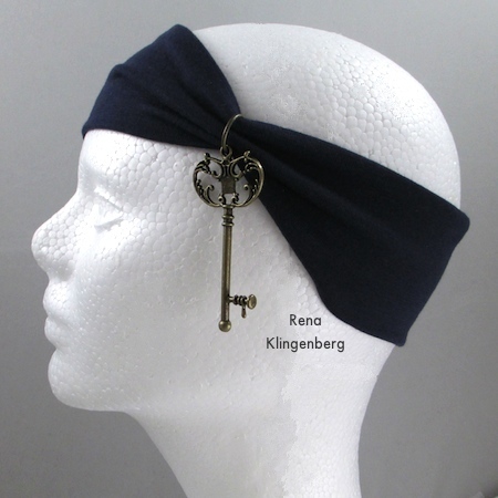 Headband from No-Sew Stretchy Necklace or 1920's Headband - Tutorial by Rena Klingenberg