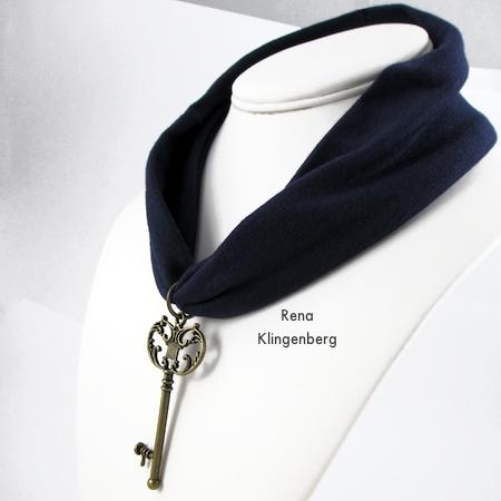 Colar de No-Sew Stretchy Necklace ou 1920's Headband - Tutorial de Rena Klingenberg