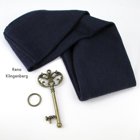 Supplies for No-Sew Stretchy Necklace or 1920's Headband - Tutorial by Rena Klingenberg