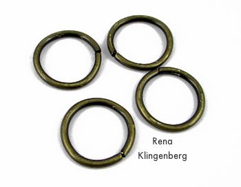 Grandes anéis de salto para colar elástico sem costura ou tiara dos anos 1920 - Tutorial de Rena Klingenberg