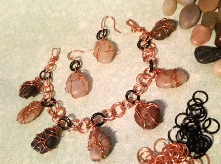 ARivera: River Pebble Charm Bracelet 3