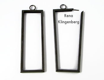 Pendant frame for Wire Line Art Pendant - Tutorial by Rena Klingenberg