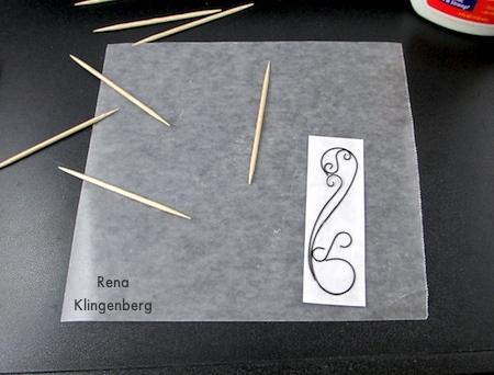Glued wire line art - Wire Line Art Pendant - Tutorial by Rena Klingenberg